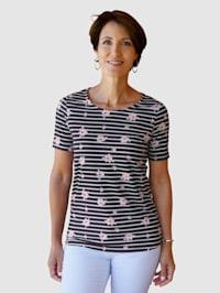 Tričko s proužkovým designem