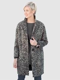 Coat in a pretty faux fur design