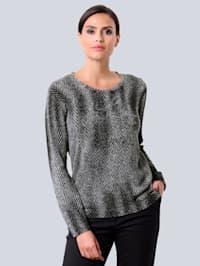 Pullover im exklusivem Dessin von Alba Moda