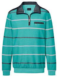 Sweatshirt med ränder i två färger