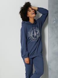 Sweatshirt met motief voor