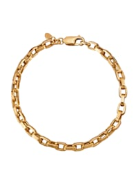 Bracelet en maille jaseron en or jaune 375