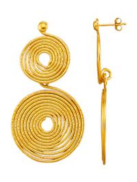 Náušnice vo farbe žltého zlata