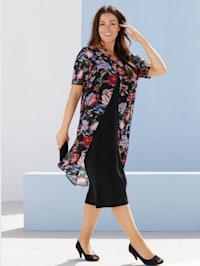 Kleid im raffinierten Doppellagen-Look