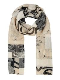 Sjaal met grafisch dessin