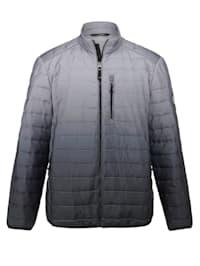 Gewatteerde jas met modieus kleurverloop