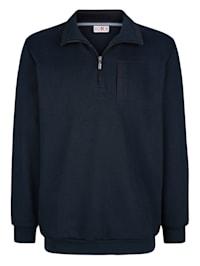Sweatshirt met contrasterende details