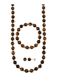 3-delige sieradenset met jaspis