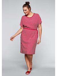 Jerseykleid mit Cut-Outs im Streifendesign