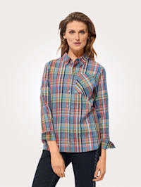 Blouse in a check pattern