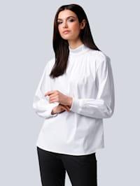 Bluse in elastischer Baumwoll-Polyamid Mischung