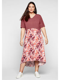 Kleid in 2-in-1-Optik, mit Alloverdruck