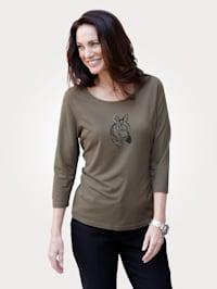 Shirt mit tierischem Druckmotiv