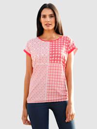 Shirt met grafische print voor