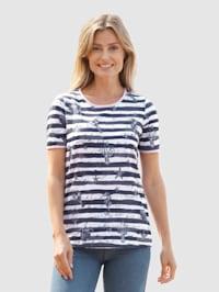 Tričko s námorníckou potlačou