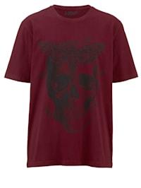 T-Shirt mit großem Totenkopf Print