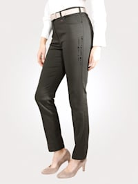 Trousers with decorative details