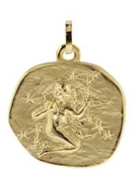Sternzeichen-Anhänger Jungfrau 333 Gold 20 mm