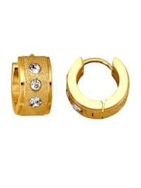 Náušnice z ušľachtilej ocele vo farbe žltého zlata