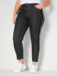 Jeans met strepen opzij