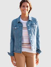 Džínsová bunda s ozdobnými gombíkmi