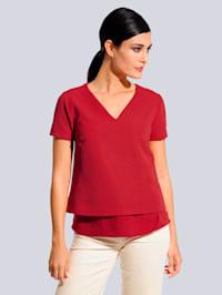 Shirt in Lagenoptik
