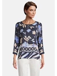 Blusenshirt mit Blumenprint