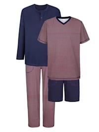 Pyjamas, 2 st. i bomull från Cotton made in Africa-programmet