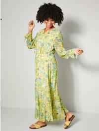 Maxi-jurk met elastische band in de taille