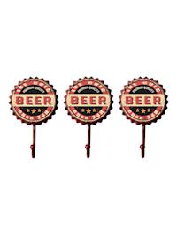 Garderobenhaken 3er Set Bier