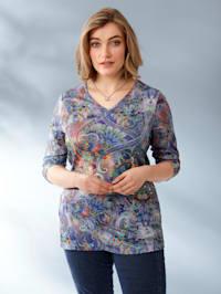 Tričko s květinovým designem potisku