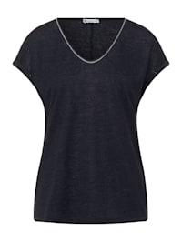 T-Shirt im Leinen Look