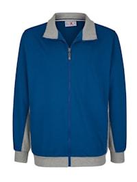 Sweat bunda s kontrastním vypracováním