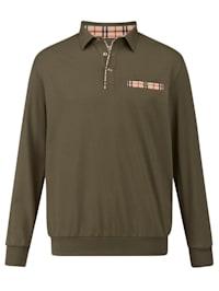 Bluzónové tričko s kontrastnými detailmi