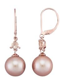 Ohrringe mit roséfarbenen Süßwasser-Zuchtperlen