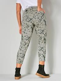 Broek met trendy batikprint