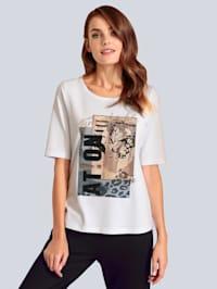 T-Shirt mit Steinen verziert