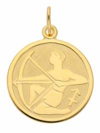 1001 Diamonds Damen & Herren Goldschmuck 333 Gold Sternzeichen Anhänger Schütze Ø 16 mm