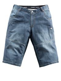 Långa jeansshorts med resår och extra plats för magen