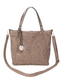 Handbag with floral cutout detailing