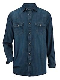 Jeansoverhemd met twee borstzakken