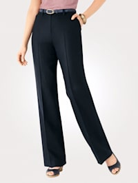 Classic leg trousers made from pure linen