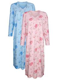 Nachthemd mit floraler Spitze