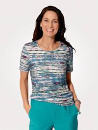 Tričko s etno potlačou