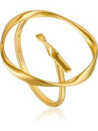 Ania Haie Damen-Damenring Twist Circle Adjustable Ring 925er Silber