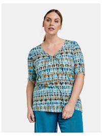 T-Shirt mit Zierring aus EcoVero Viskose