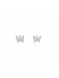 Damen Silberschmuck 925 Silber Ohrringe / Ohrstecker Schmetterling mit Zirkonia