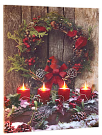 Led-wanddecoratie 'Kerst'