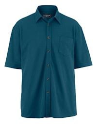 Pikéskjorta med extra plats för magen
