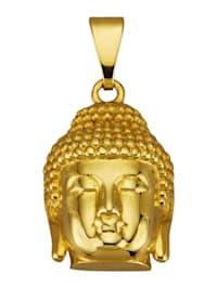 """Pendentif """"bouddha"""" en or jaune 375"""